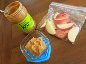 Image result for apple and peanut butter in container